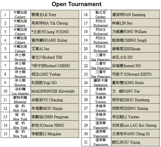 Delson Cup open tournament